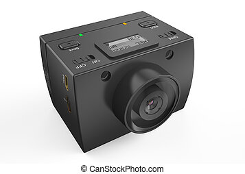 Dashboard camera – DVR isolated on white background