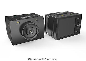 Acton camera - POV - Acton camera isolated on white...