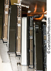 details of hard disk drive with evidence of pin contact