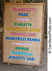 Signs of Tuscan restaurants
