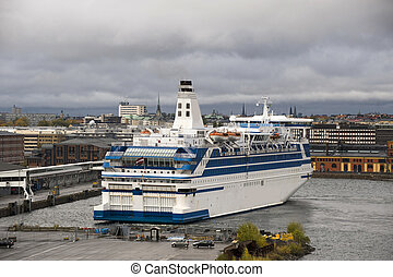Cruise ship in the Stockholm port