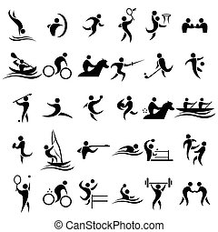 Sport icons - A vector illustration of sport icons sets