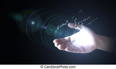 The theory of relativity (E = mc2) in hand