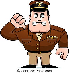 Cartoon Captain Thumbs Down - An illustration of a cartoon...