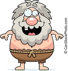 Crazy Cartoon Hermit - A cartoon illustration of a hermit...
