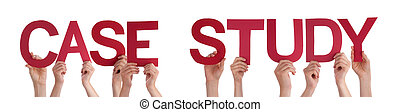 People Hands Holding Red Straight Word Case Study - Many...