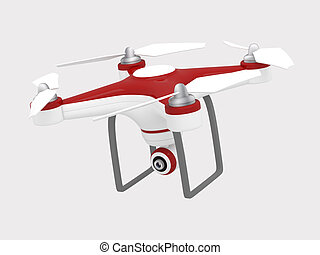 Drone Flying for Aerial Photography or Video Shooting - 3D...