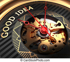 Good Idea on Black-Golden Watch Face - Good Idea on...
