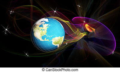 Science.Research cosmos.Globalization internet technology