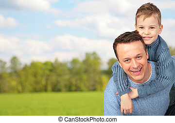 father with child outdoor