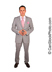 standing young businessman