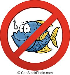 No fishing - Vector illustration of No fishing sign