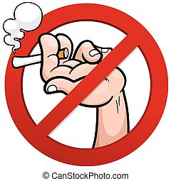No smoking - Vector illustration of No smoking sign