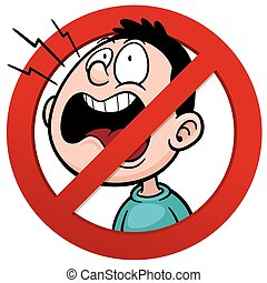 No talking - Vector illustration of No talking sign