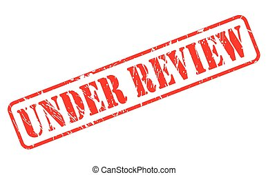 Under review red stamp text on white