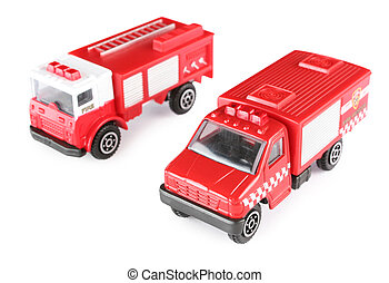 Two toy fire machines
