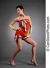 beauty dancing woman