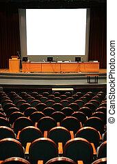vazio, auditório