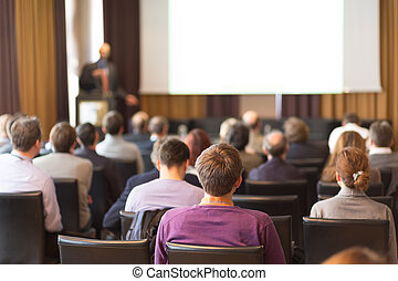 Audience in the lecture hall. - Speaker at Business...