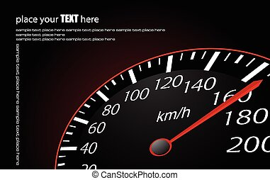 Speedometer. Accelerating Dashboard