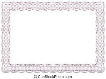 Decorative guilloche frame