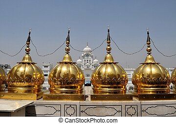 Sikh holy Golden Temple in Amritsar, Punjab, India - The...