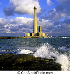 lighthouse, Gatteville, Normandy, France