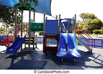 Large outdoor playground for children - Large colorful...