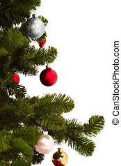 Cut Image of a christmas tree on white
