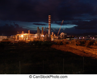 Refinery under construction - An idrogen plant refinery...