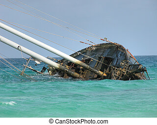 Famous Wrecked Ship, Capo Verde, May 2003 - A famous wrecked...
