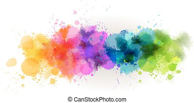 Watercolor line background
