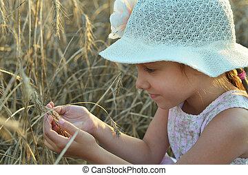 Cute girl in field