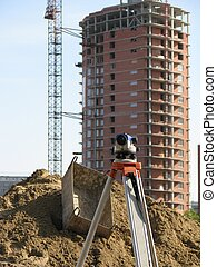 Construction site - A view to construction site with...