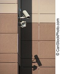 Security - The video camera of the security system of the...