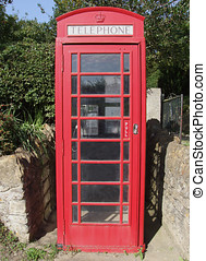 Red Telephone Box - Red phone box in UK