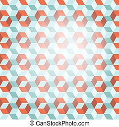 Cube Retro Vector Background