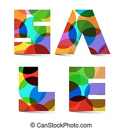 Sale Colorful Vector Title Iso