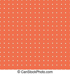 Abstract Red Vector Dotted Retro Seamless Background