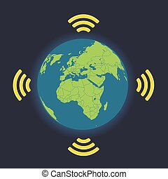 Global wireless connection illustration