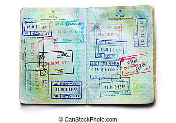 passports full of stamps