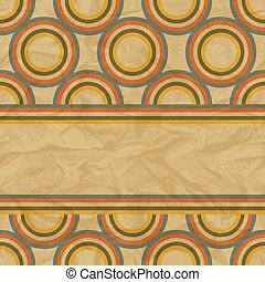 EPS10 retro seamless pattern on vintage old paper