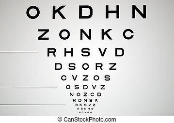 nero, bianco, occhio, grafico, occhio, esame