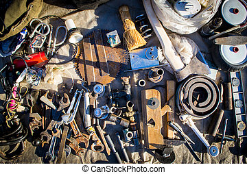 Debris and Junk Tools - A collection of old unassorted junk...