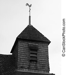 Wind vane on a church tower