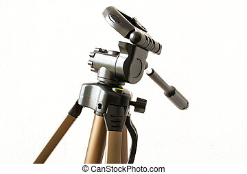Camera Tripod Head - A camera tripod head with tilt on the...