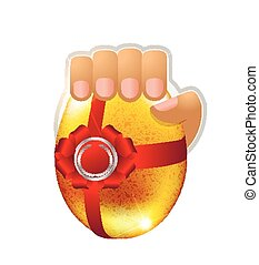 Logo Easter egg in the hand
