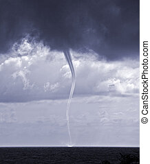 waterspout - tornado over sea in the Black sea
