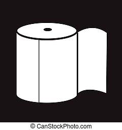 Toilet Paper Icon