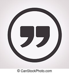 Quote sign icon , Quotation mark